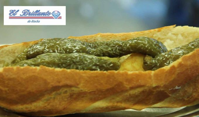Bocadillo de Tortilla con Pimientos - EL BRILLANTE
